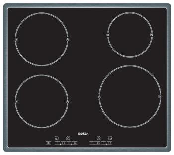 Varná deska sklo. Bosch PIE 645E01E nerez