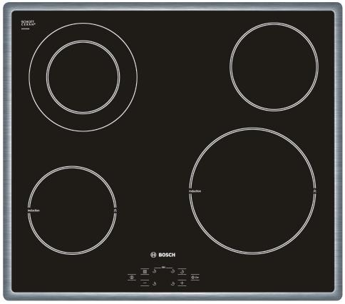 Varná deska sklo. Bosch PIF 645R14E nerez