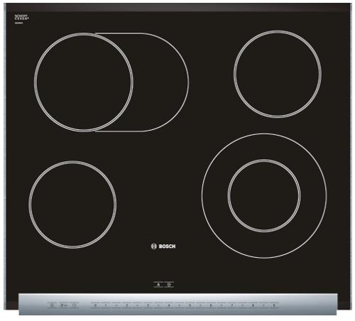 Varná deska sklo. Bosch PKN 685N14E nerez